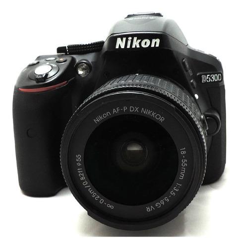 Câmera Nikon D5300 Com Lente 18-55mm Vr Seminova