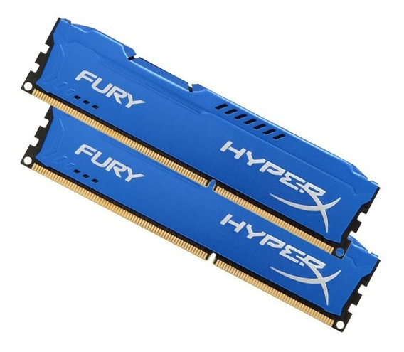Memória Ram Kingston Hyperx Fury 2x4g Ddr3 1866mhz Intel/amd