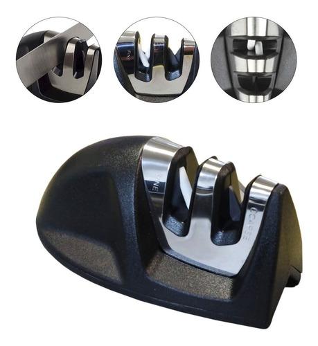 Afiador Amolador De Facas 9,5cm X 5 Cm Mor 003901