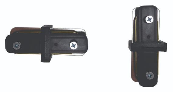Conector De Trilho Eletrificado Na Cor Preta Formato I