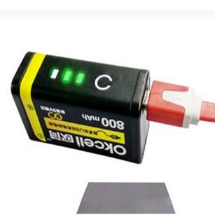 Baterias Pilas 9 Voltios 800 Mah Recargables Con Microusb