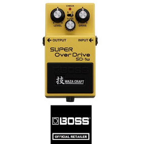Pedal Guitarra Boss Sd-1w Super Overdrive Waza Craft + Fonte