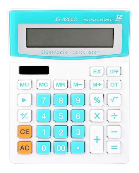 Calculadora Eletrônica Solar Estudantes Escritório Js-1200c