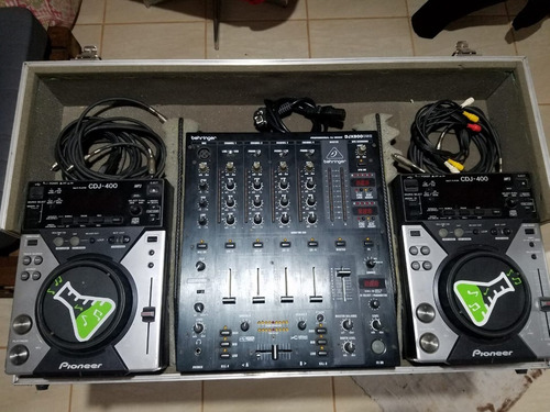 Kit Cdj Pionner 400 + Mixer Beringuer Djx 900 + Hard Case