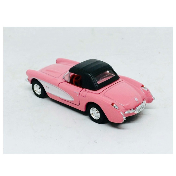 Miniatura Chevrolet Corvette 1957 Rosa 1:34-1:39 Welly