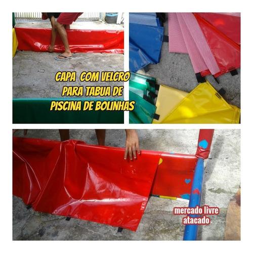 Imagem 1 de 10 de Capa Com Velcro P/tabua Piscina De Bolinhas 1.20 Mts 01 Capa