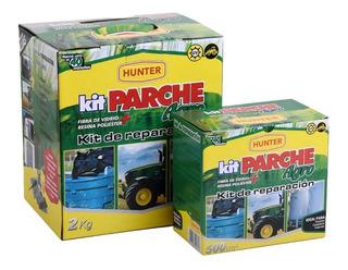 Kit Parche Agro 0,5 Reparacion Fibra De Vidrio Resina Hunter