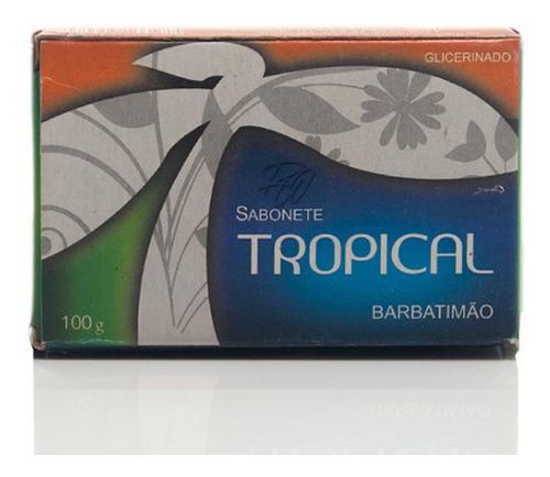 Imagem 1 de 6 de Sabonete Barra Barbatimão Tropical 100 Gramas Promoção Top