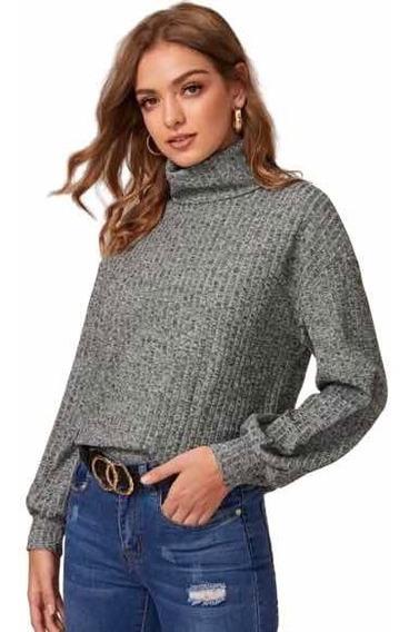 Sweater Cuello Gris Talla Chica Envio Gratis Dhl
