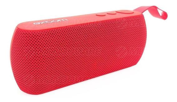 Caixa Bluetooth Portátil 3w Rádio Fm Usb Microsd P2 Mic Verm