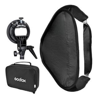Softbox 60x60 Cm C/ Adaptador P/ Flash Zapata Nikon Canon