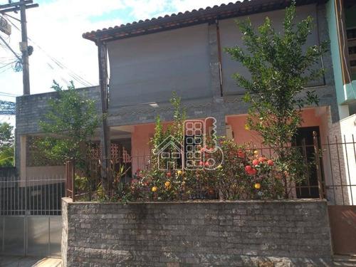 Casa Com 3 Dormitórios À Venda, 175 M² Por R$ 350.000,00 - Maria Paula - São Gonçalo/rj - Ca1774