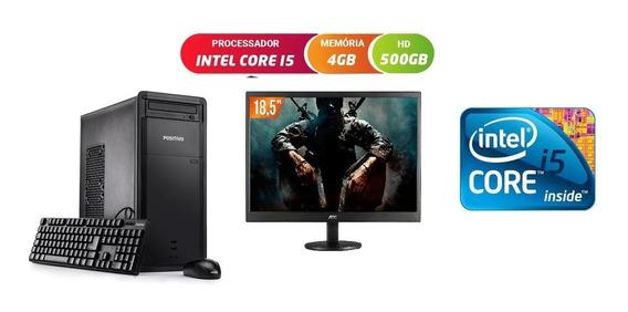 Computador I5 Premium 4 Gigas Hd 500 Gigas Tela 19 Polegadas