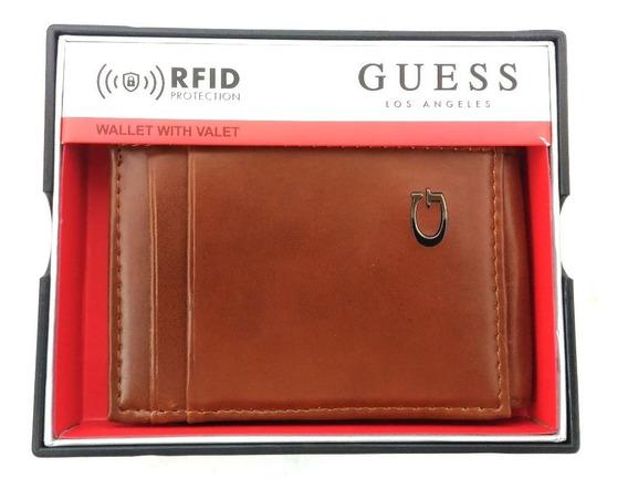 Porta Cartões Guess Com Proteção Rfid Original Marrom