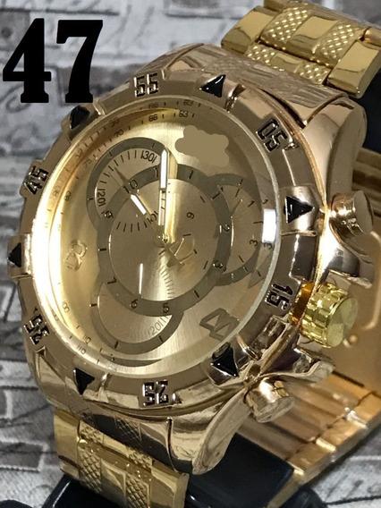 Relógio Masculino Robusto Pesado Lançamento Na Promoção