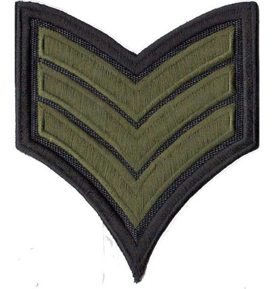 Patch Bordado - Rank Militar 3º Sargento Us Army Ex10089
