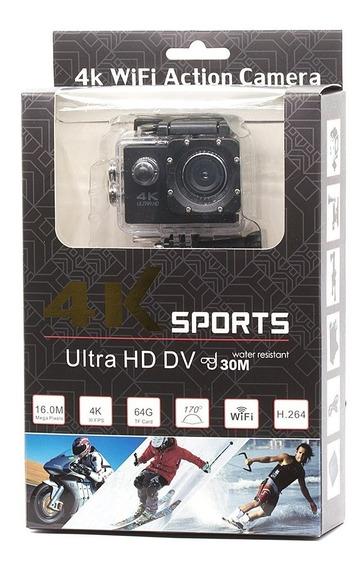 Câmera Action Gopro 4k Sports Hd Prova Dágua + Cartão 16gb