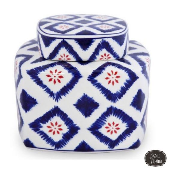 Frasco Porcelana Galletitas Decorado Con Tapa
