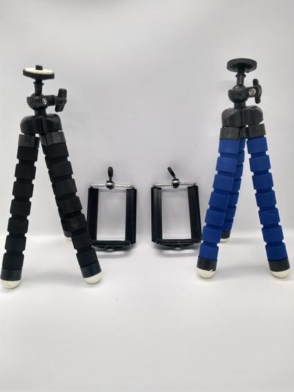 Mini Tripé Ajustável E Flexível Para Celular