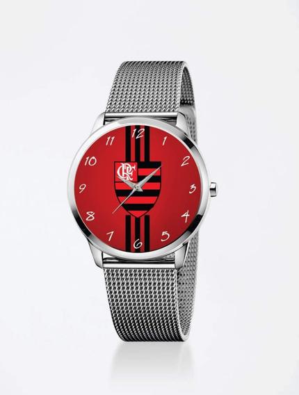 Relógio De Pulso Personalizado Feminino Futebol Flamengo
