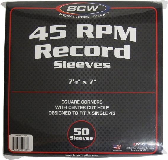Bcw (50 Marca Record Blanco Interior De Papel Mangas