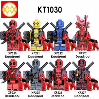 Deadpool Con Perrito Tipo Lego