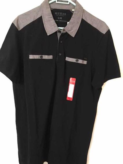 Camisa Tipo Polo Marca Guess Para Hombre L