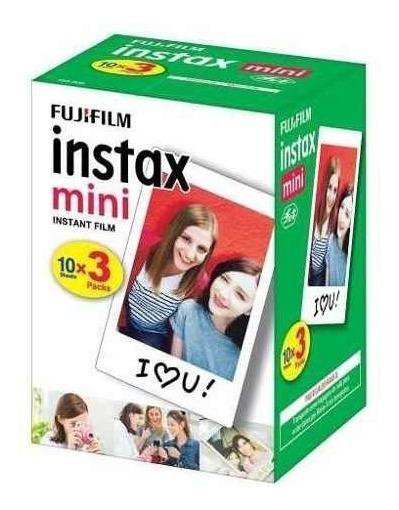 Filme Instax Mini Fujifilm Pack Com 30 Poses Fotos Original