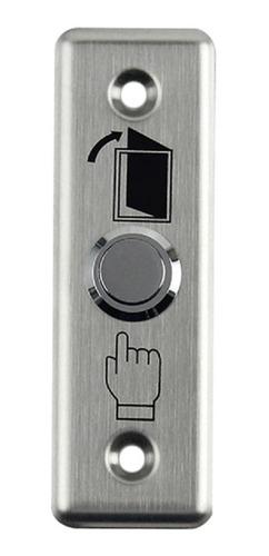 Botón De Salida Metálico Normal Abierto Control De Acceso