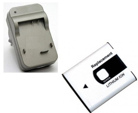 Kit Carregador + Bateria Cyber-shot Dsc-w180 Camera Sony