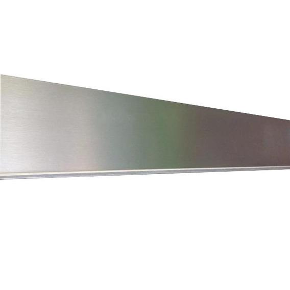 Rodapie Pvc Aluminio Liso 4 Mts Herrajes Accesorios Cocina