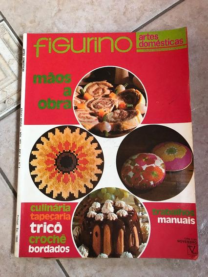 Revista Figurino 4 Tapeçaria Tricô Crochê Culinária D175