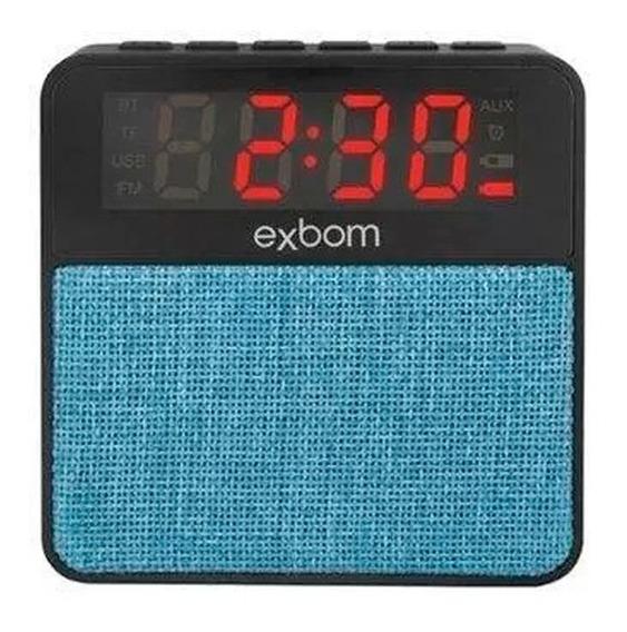 Rádio Relógio Digital Despertador Bluetooth Mp3 Sd Auxiliar
