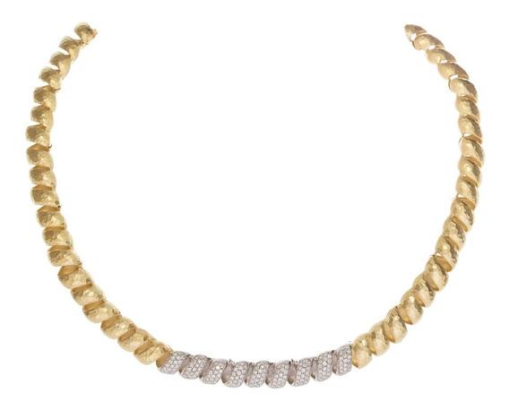 Lindo Colar/gargantilha Ouro E Brilhantes H.stern