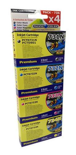 Set (4) Tintas   73n O T117 - T090  Compatibles Para Cx5600