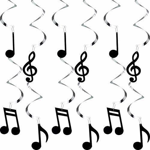 Zonon 25 Piezas De Remolinos Para Colgar Notas Musicales, Re