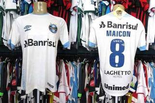 Grêmio 2018 Camisa Reserva Branca Tamanho M # 8 Maicon.
