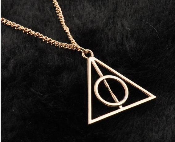 Reliquias Da Morte Colar Harry Potter (dourado)