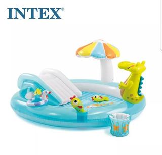Piscina Intex Inflável Playground Escorregador + 100bolinhas