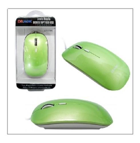 Mouse Optico Com Fio 1600dpi Verde Dr.hank Mo-415u