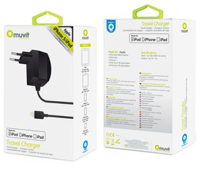 Carregador Completo Lightning P/ iPhone Mfi Apple , Muvit