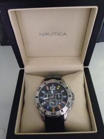 Relógio Nautica Masculino Resina Preta - A18636g