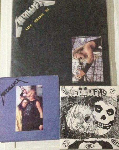 Metallica Pacote De 3 Discos De Vinil Raros Misfits Lp