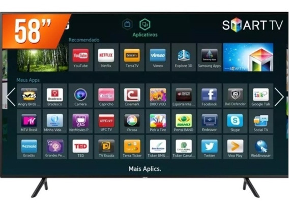 Smart Tv Led 58 Ultra Hd 4k Samsung Nu7100 Hdmi Usb Wi-fi