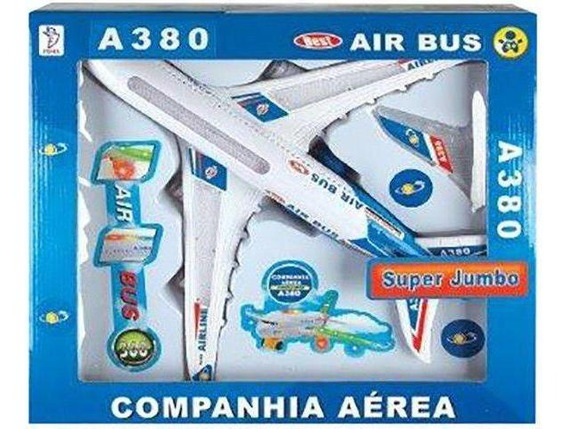 Brinquedo Avião Air Bus A380 Super Jumbo Hj-166 Fenix