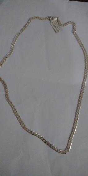 Corrente Masculina Prata Original 925 Elos Grumet
