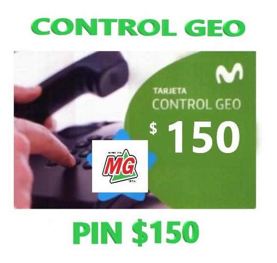 Tarjeta Movistar Control Geo $150 Stock 24 Hs.