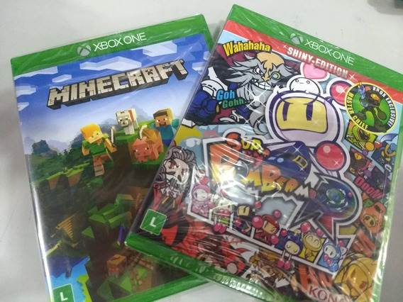 Bomberman + Minecraft Xbox One Mídia Física
