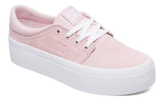 Tenis Dc Shoes Dama Trase Plataform Se Rosa