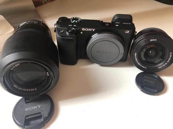 Câmera Sony A6300 Com Lente 16-50 E 55-210